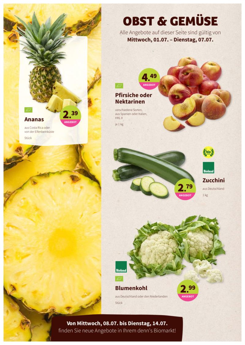 denn's Biomarkt Prospekt vom 01.07.2020, Seite 1
