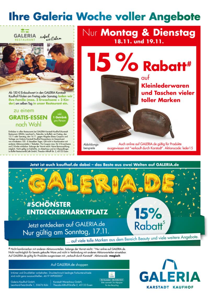 GALERIA Karstadt Kaufhof Prospekt vom 13.11.2019, Seite 71