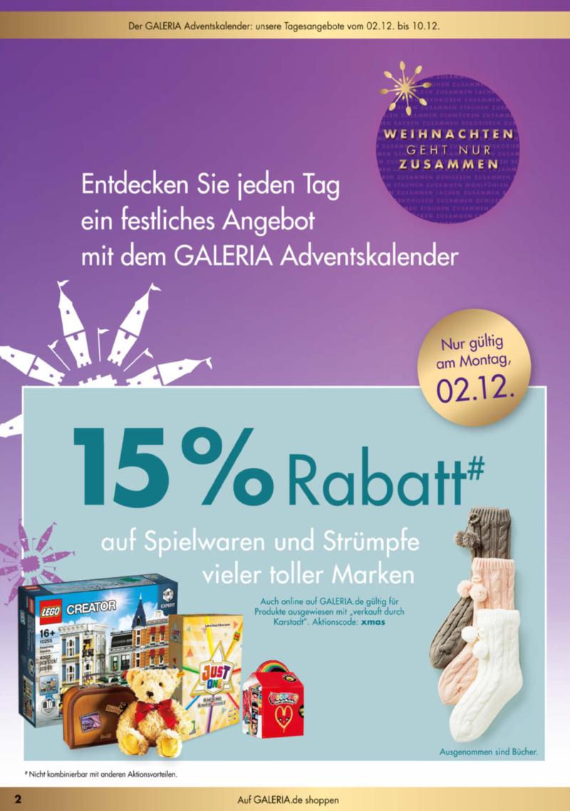 GALERIA Karstadt Kaufhof Prospekt vom 02.12.2019, Seite 1