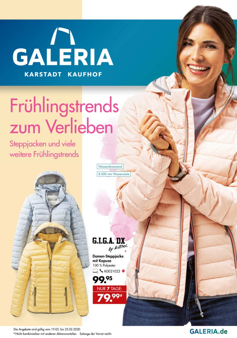 GALERIA Karstadt Kaufhof Prospekt vom 19.02.2020