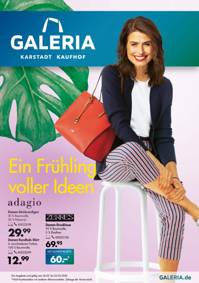 GALERIA Karstadt Kaufhof Prospekt vom 26.02.2020, Seite