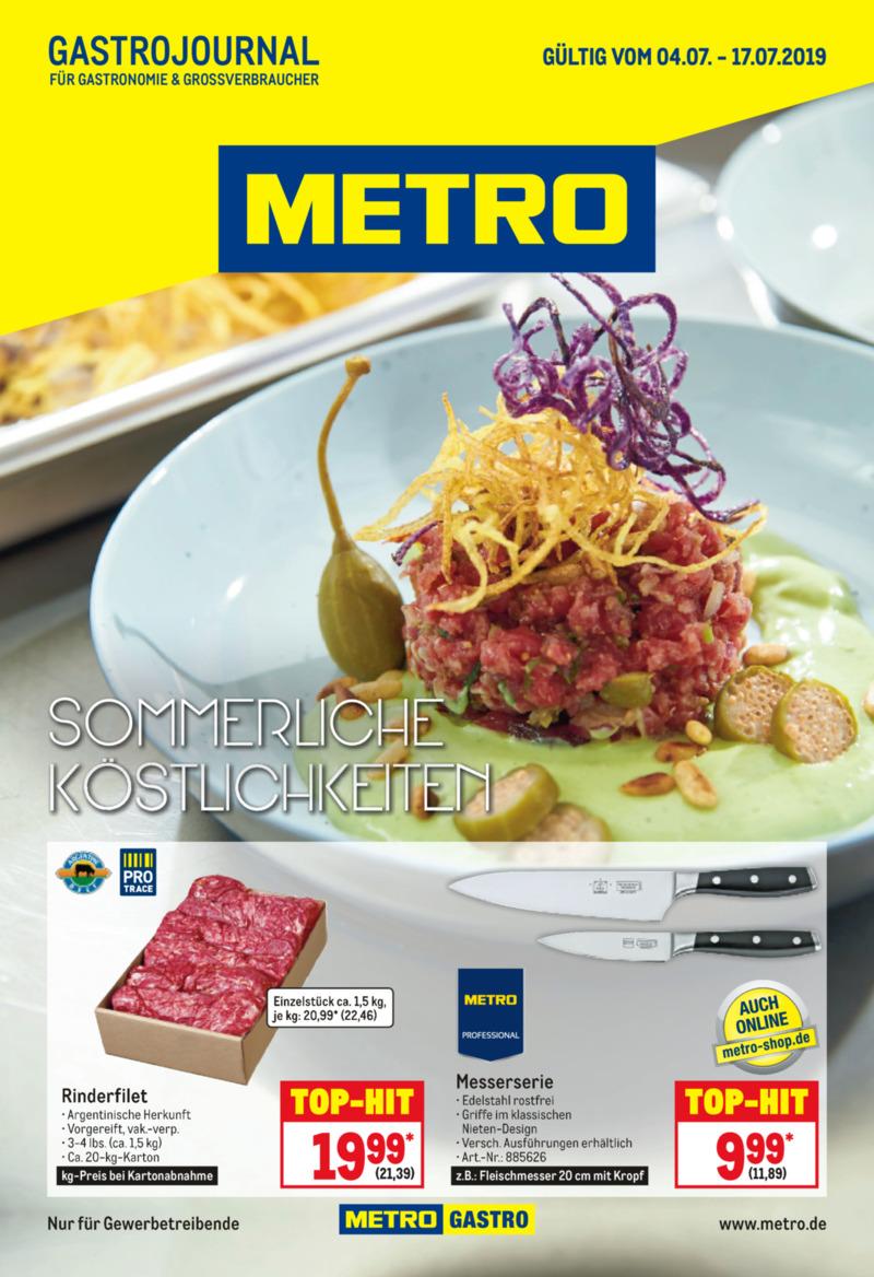 METRO Prospekt vom 04.07.2019, Seite