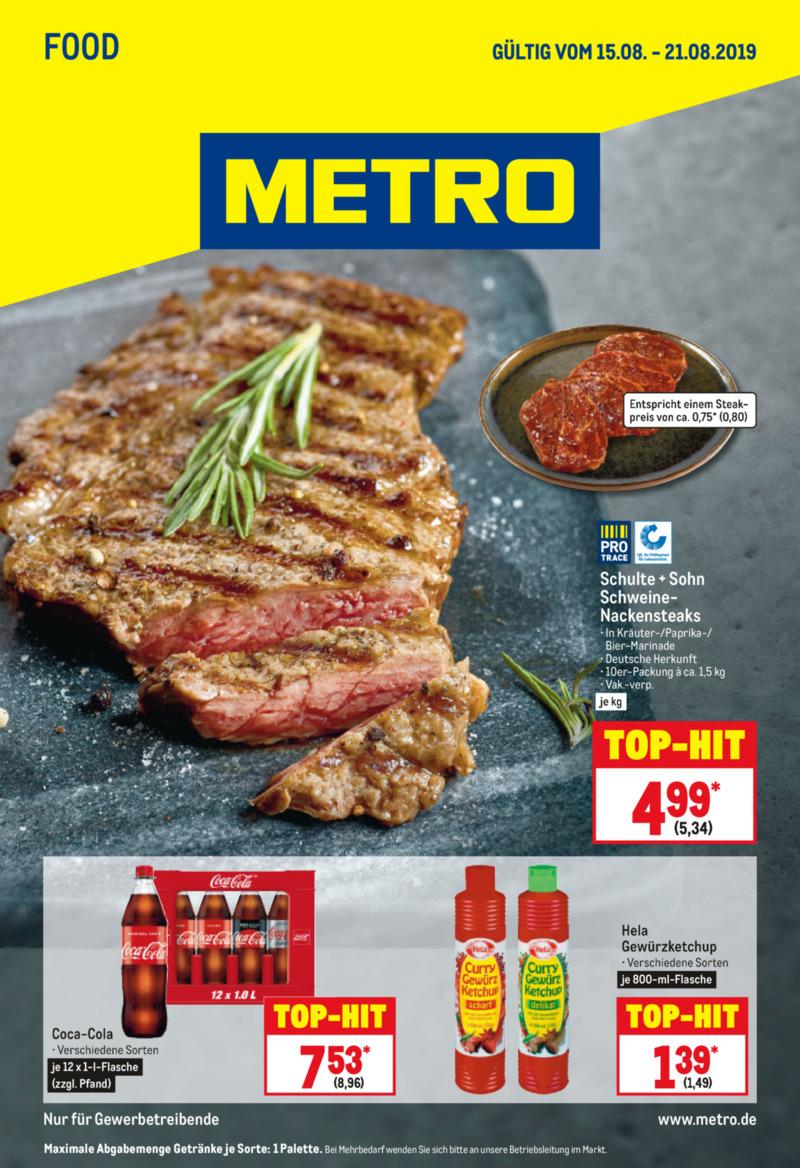 METRO Prospekt vom 15.08.2019, Seite