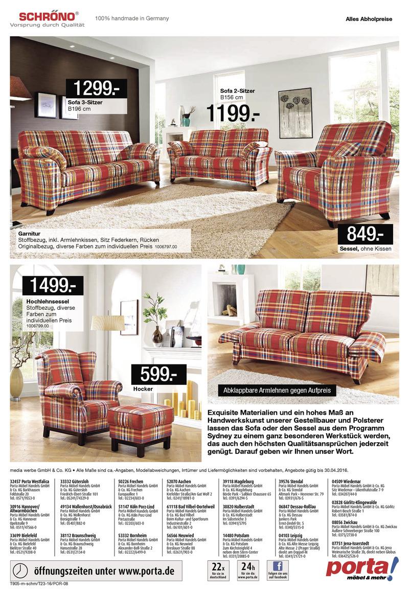 porta m bel prospekt vom bis bl ttern. Black Bedroom Furniture Sets. Home Design Ideas