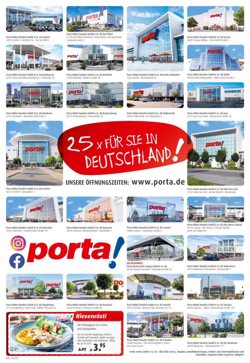porta Möbel Prospekt vom 06.10.2018, Seite 11