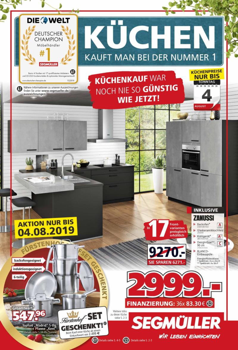 Segmüller Prospekt vom 16.07.2019, Seite