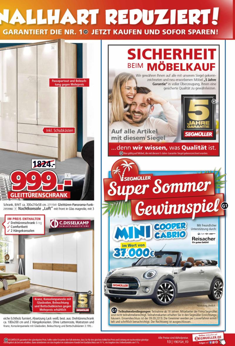 Segmüller Prospekt vom 16.07.2019, Seite 12