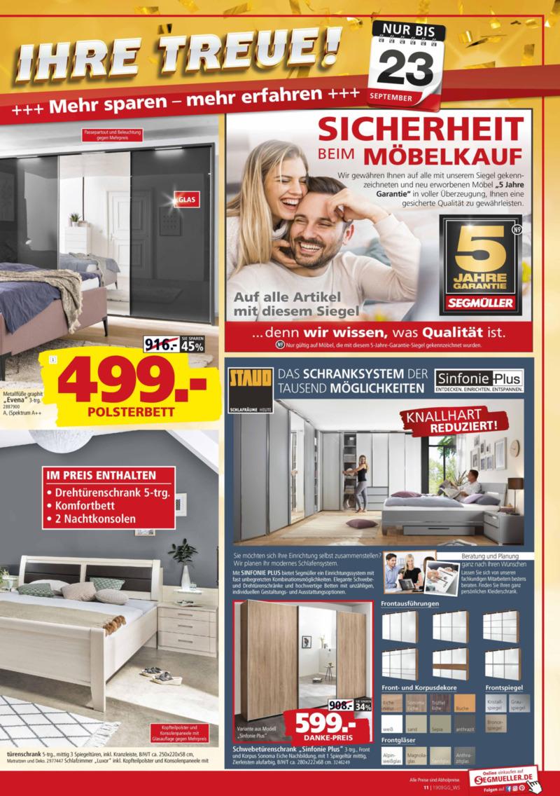Segmüller Prospekt vom 17.09.2019, Seite 10