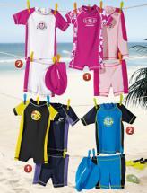 3-teilige Kinder-UV-Schutz-Badekleidung