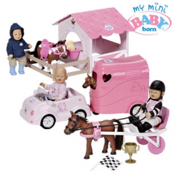 my mini baby born pferdestall off roader mit anh nger. Black Bedroom Furniture Sets. Home Design Ideas