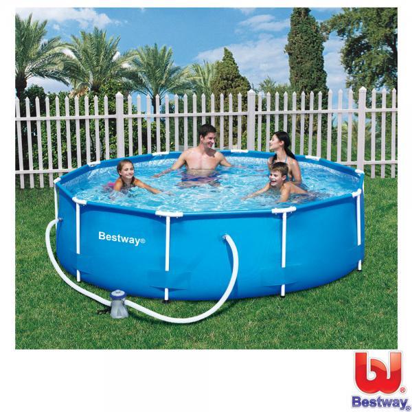 Bestway stahlrahmen pool set 305 cm von rossmann ansehen for Pool im angebot