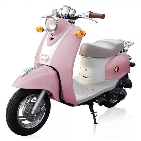 benzhou retro motorroller 49 ccm in rosa von rossmann ansehen. Black Bedroom Furniture Sets. Home Design Ideas