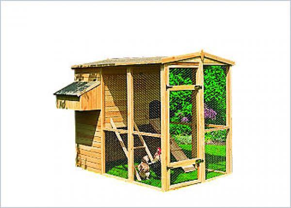 Hühnerstall, 3,15 m² mit Hühnerleiter, Sitzstange und Eiablage