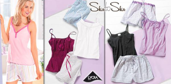 skin to skin damen sommer pyjama von aldi s d ansehen. Black Bedroom Furniture Sets. Home Design Ideas