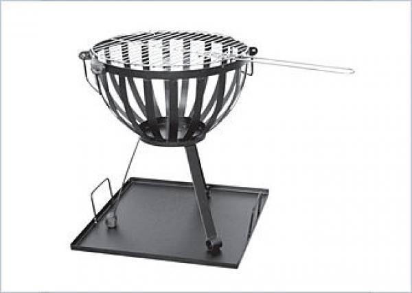 activa edelstahl feuerkorb mit 32 5 cm grillrost von plus. Black Bedroom Furniture Sets. Home Design Ideas
