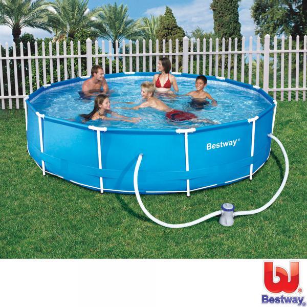Bestway stahlrahmen pool set 366 cm von rossmann ansehen for Pool im angebot