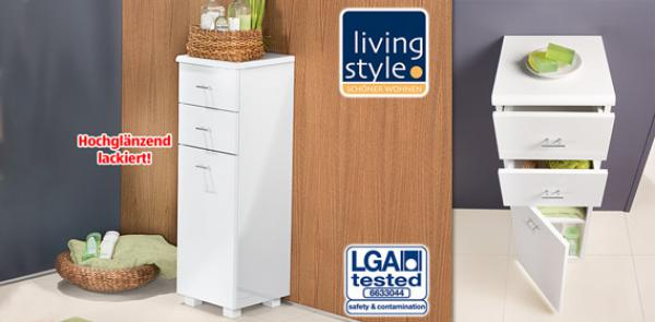 LIVING STYLE® Exklusiver Badezimmer-Seitenschrank von Aldi Süd ...