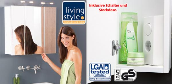 living style spiegelschrank von aldi s d ansehen. Black Bedroom Furniture Sets. Home Design Ideas