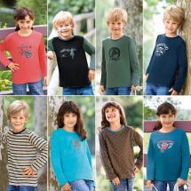 Kinder Wende-Langarmshirt