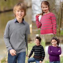 Basic-Pullover für Kinder