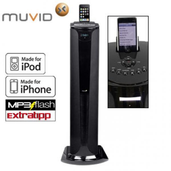 soundtower mit rds stereo radio und iphone ipod usb. Black Bedroom Furniture Sets. Home Design Ideas