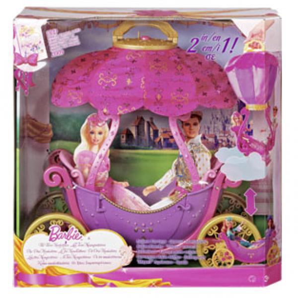 barbie ballon kutsche von real ansehen. Black Bedroom Furniture Sets. Home Design Ideas