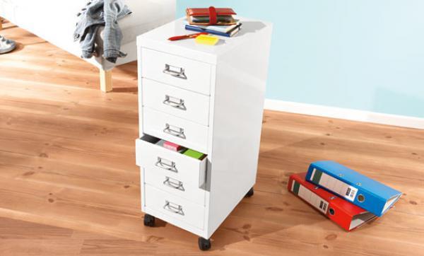 united office rollcontainer mit 6 schubladen von lidl ansehen. Black Bedroom Furniture Sets. Home Design Ideas