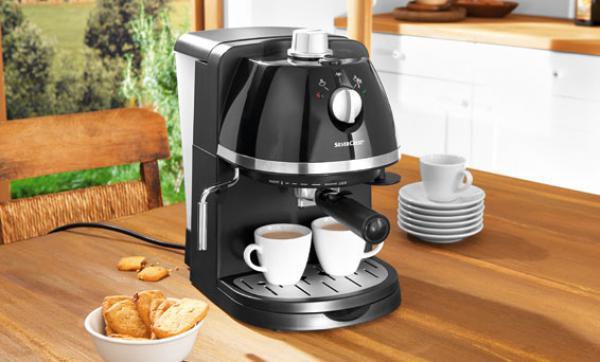 silvercrest espressomaschine von lidl ansehen. Black Bedroom Furniture Sets. Home Design Ideas