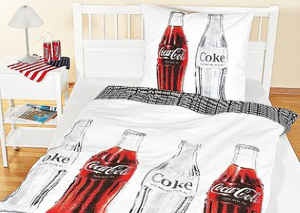 bettw sche garnitur coca cola von penny markt ansehen. Black Bedroom Furniture Sets. Home Design Ideas