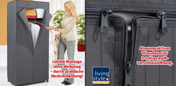 LIVING STYLE® Faltbarer Kleiderschrank von Aldi Süd ansehen ...