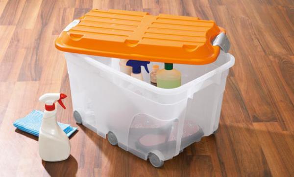 rotho aufbewahrungsbox mit 6 rollen von lidl ansehen. Black Bedroom Furniture Sets. Home Design Ideas