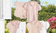 2 Mädchen-Poloshirts