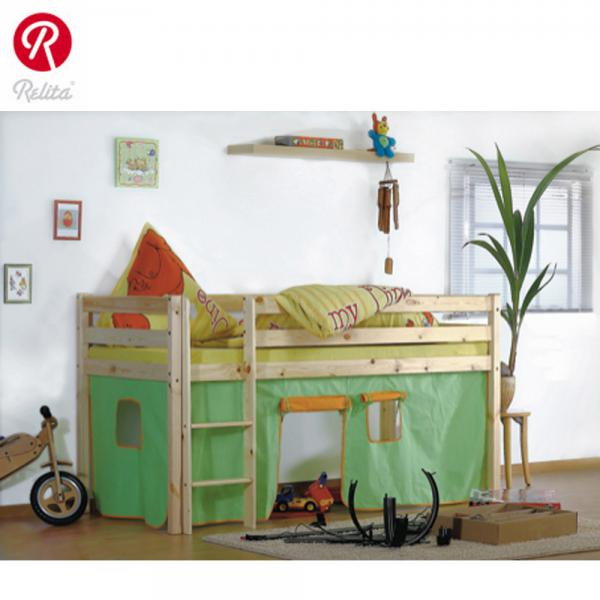 relita hochbett lilly mit vorhang in gr n orange von rossmann ansehen. Black Bedroom Furniture Sets. Home Design Ideas