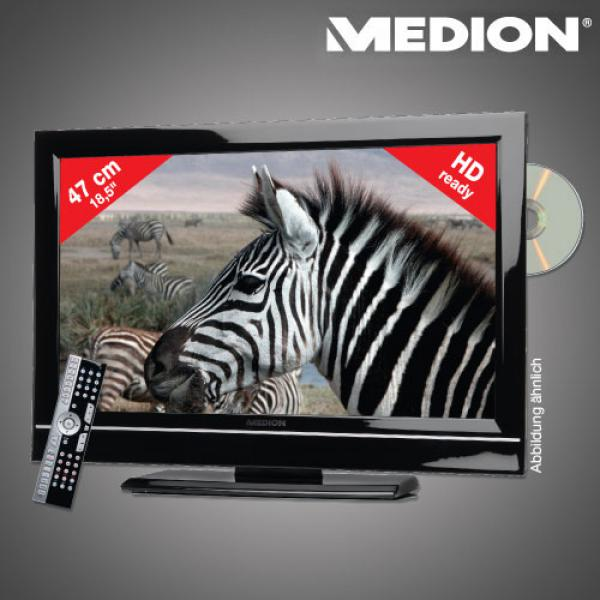 medion 47 cm 18 5 design lcd tv mit integriertem dvd. Black Bedroom Furniture Sets. Home Design Ideas