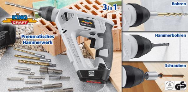 king craft akku multifunktions bohrhammer von aldi s d. Black Bedroom Furniture Sets. Home Design Ideas