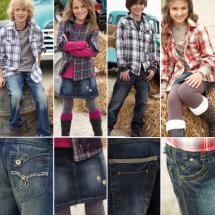 Vintage Jeans / Minirock + Leggings