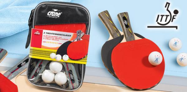 crane sports tischtennisschl ger set von aldi s d ansehen. Black Bedroom Furniture Sets. Home Design Ideas