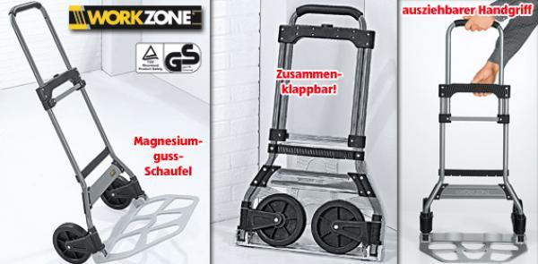 workzone vollklappbare transportkarre von aldi s d ansehen. Black Bedroom Furniture Sets. Home Design Ideas