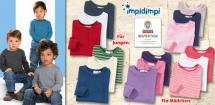 IMPIDIMPI® Kleinkinder- Basic-Langarmshirts, je 3 Stück