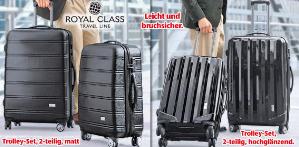 royal class travel line polycarbonat trolley set 2 teilig von aldi s d ansehen. Black Bedroom Furniture Sets. Home Design Ideas