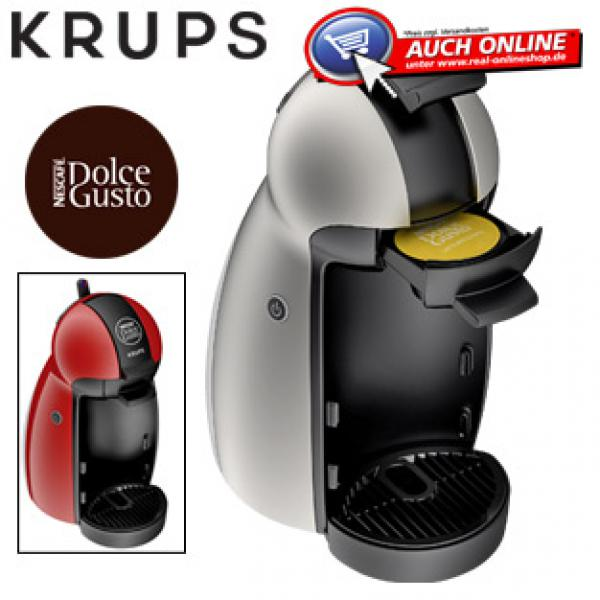 kaffee kapselautomat dolce gusto piccolo von real ansehen. Black Bedroom Furniture Sets. Home Design Ideas