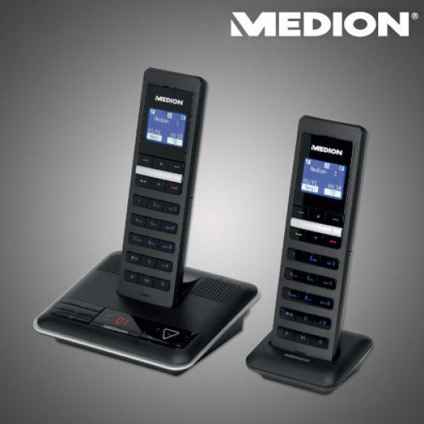 design dect telefon mit 2 mobilteilen von aldi nord ansehen. Black Bedroom Furniture Sets. Home Design Ideas