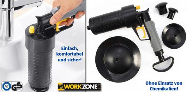 Workzone pressluft rohrreiniger