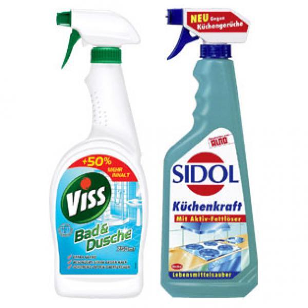 Küchenkraft Sidol ~ viss bad, dusche, glas, fläche 750 ml oder sidol