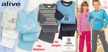 ALIVE® Kinder- Frottee-Schlafanzug
