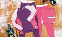 CRIVIT SPORTS Mädchen-Ski-Unterwäscheset, 2-teilig