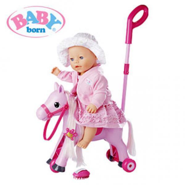 baby born 2 in 1 schaukelpferd und dreirad von real ansehen. Black Bedroom Furniture Sets. Home Design Ideas