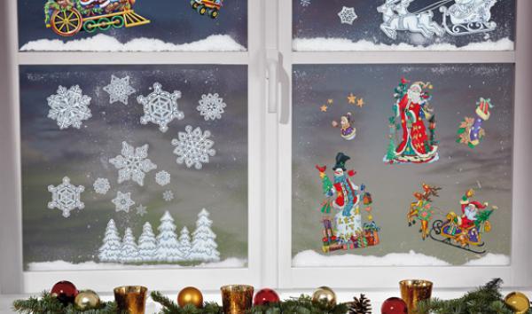 weihnachtsfensterbilder von lidl ansehen. Black Bedroom Furniture Sets. Home Design Ideas