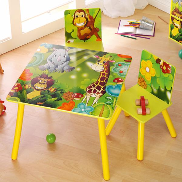 Kindertisch mit 2 Stühlen von Aldi Nord ansehen! | {Kindertisch 29}