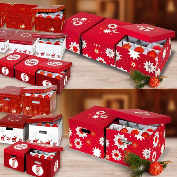 Aufbewahrung Weihnachtskugeln.Aufbewahrungsboxen